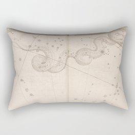 Johann Bayer - Uranometria / Measuring the Heavens (1661) - 40 Hydra Rectangular Pillow