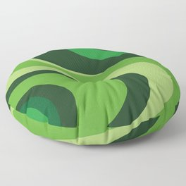 70's Green Vibe Floor Pillow