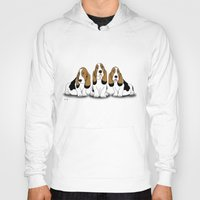 dogs Hoodies featuring dogs  by mark ashkenazi