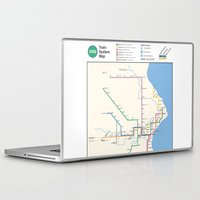 milwaukee Laptop & iPad Skins featuring Milwaukee Transit System Map by Carticulate Maps