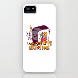 Kawaii Sushi Eat Time iPhone Case