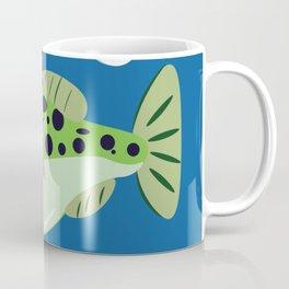 Goofy Green Spotted Puffer Coffee Mug