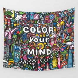 color your mind by Astorg Audrey Wall Tapestry