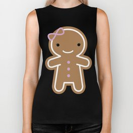Cookie Cute Gingerbread Girl Biker Tank