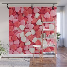 Heart Candies Wall Mural