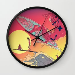 WAVEJAMMER SURFING COMPANY / BREAKRIDERS Wall Clock