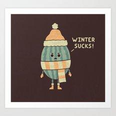Wintermelon Art Print
