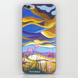 Pretty in Pink, Pink floral landscape, Abstract Landscape iPhone Skin