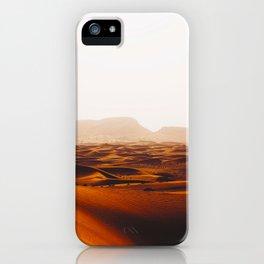 Minimalist Desert Landscape Sand Dunes With Distant Mountains iPhone Case
