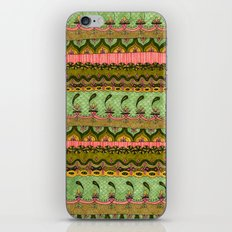 Pink and Green Pattern iPhone & iPod Skin