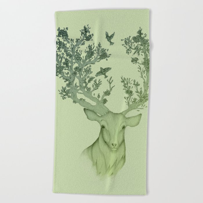 The Natural Progression? 1 of 3 in Green Beach Towel