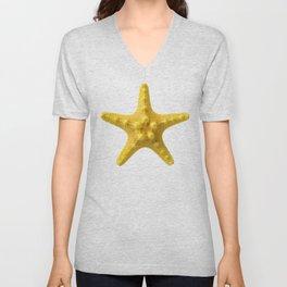 Yellow starfish Unisex V-Neck