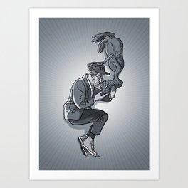 Cannes 2013 x Spielberg x ET (black and white) Art Print