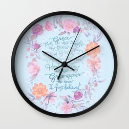 Amazing Grace - Hymn Wall Clock