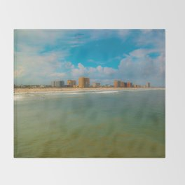 Jax Beach Throw Blanket