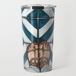 Art Beneath Our Feet - Cabarita Beach, Australia Travel Mug