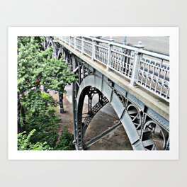NYC Riverside Bridge Steel Arch Art Print