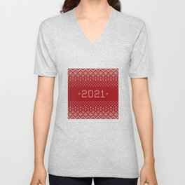 Welcome 2021 - Happy New Year! Unisex V-Neck