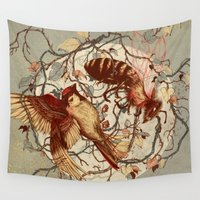 books Wall Tapestries featuring Honey & Sorrow (grey) by Teagan White