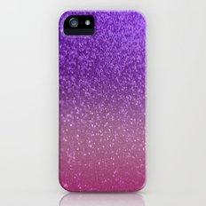 Gradient Glitter Purple Pink Sparkle iPhone (5, 5s) Slim Case