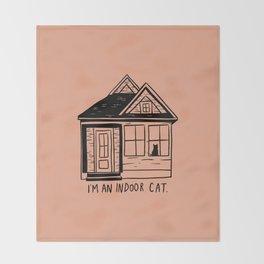 Indoor Cat (house) Throw Blanket