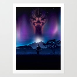 Black Panther Heaven Art Print