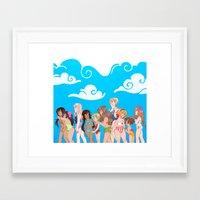 hetalia Framed Art Prints featuring Hetalia Girls by kitkatkatee
