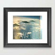 wanderlust airplane Framed Art Print