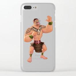 Maori Warrior Clear iPhone Case