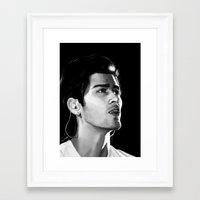 zayn Framed Art Prints featuring Zayn by Judit Mallol