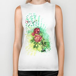 Convergency: Rose from a Lilypad Biker Tank