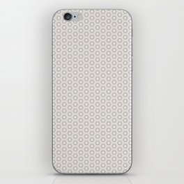 Hexagon Light Gray Pattern iPhone Skin