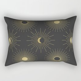 Moon and Sun Theme Rectangular Pillow