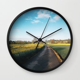 Early morning in derbyshire Wall Clock