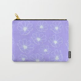 Cosmos Flowers (purple version) Carry-All Pouch