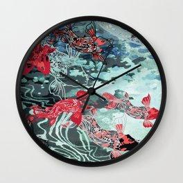 Lucky Koi Wall Clock