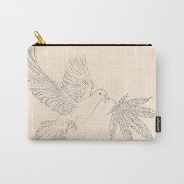 Peace & Hope Dove (Parchment) Carry-All Pouch