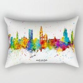 Antwerp Belgium Skyline Rectangular Pillow