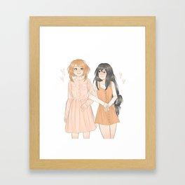 Uraraka and Tsuyu Framed Art Print