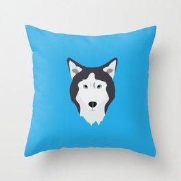 Lance Bright Blue Throw Pillow