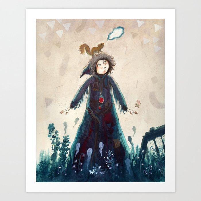 Declaration of winter Art Print