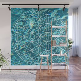 Flower of life in the water Wall Mural