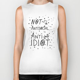 NOT Anti-Social Anti-Idiot Biker Tank
