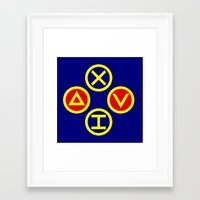 playstation Framed Art Prints featuring Playstation Footballer by Dale Roots