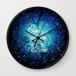 Once Upon A Time ~ Winter Snow Fairytale Forest Wall Clock
