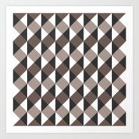 gray pattern Art Prints featuring Pattern Gray by Sonia Marazia