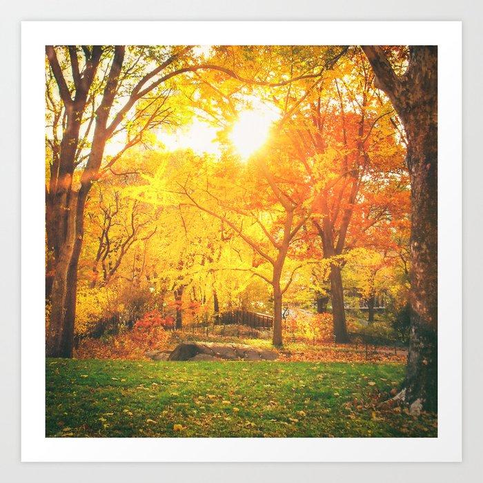 New York City - Autumn Sunset Art Print