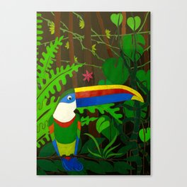 Il Tucano Pensieroso (The Thoughtful Toucan) Canvas Print