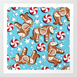 Unicorn Gingerbread Art Print