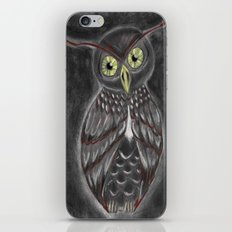 Stylized Owl (Darkened Version) iPhone & iPod Skin